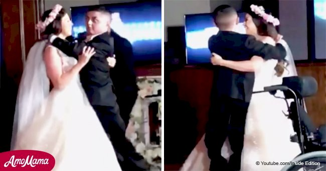 Touching moment Texas bride invites her severely ill brother to dance at her wedding