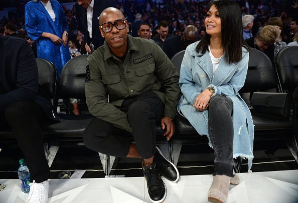 Dave Chappelle and wife Elaine attend the NBA All-Star Game 2018 on February 18, 2018 | Photo: Getty Images