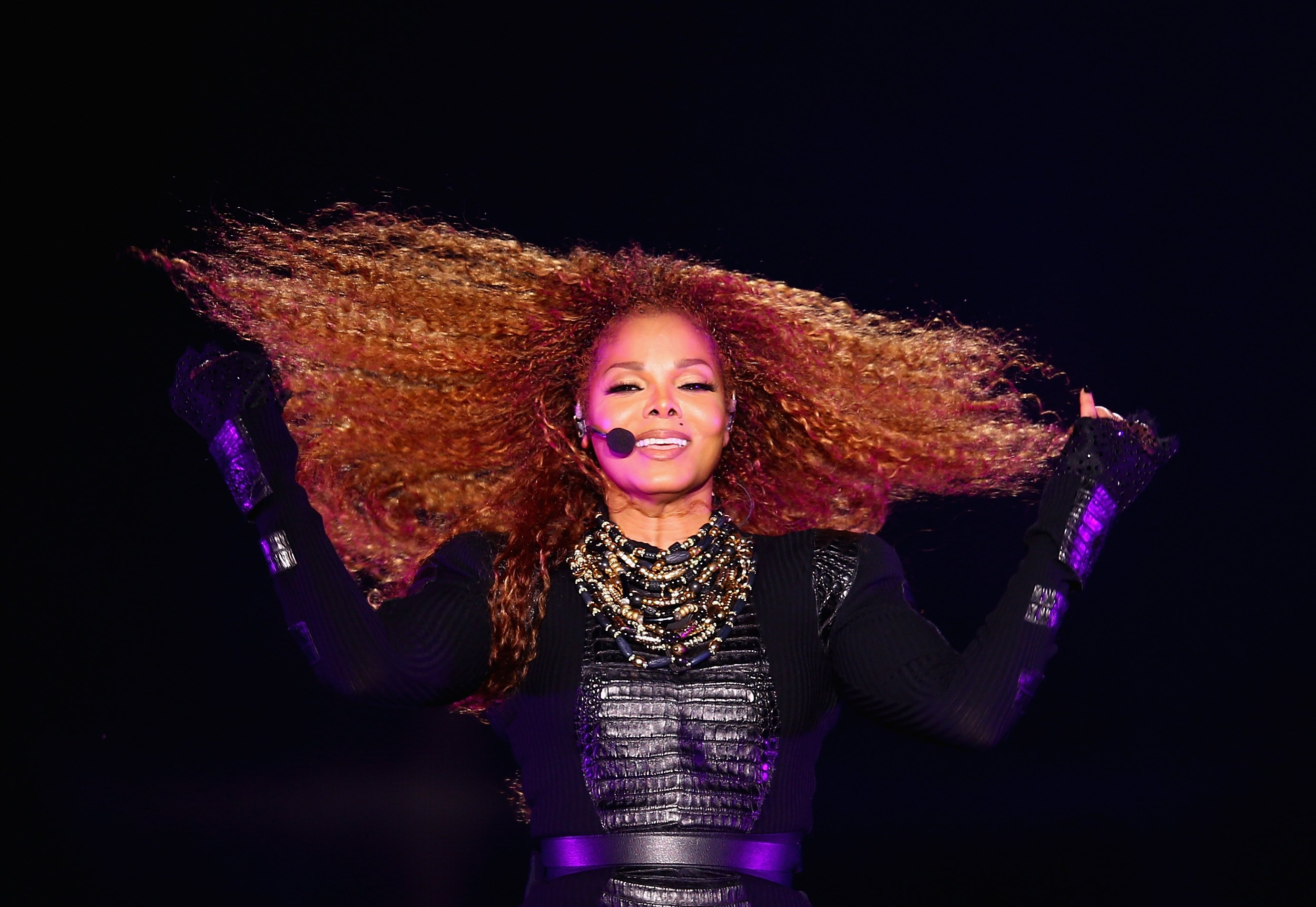 Janet Jackson performs after the Dubai World Cup at the Meydan Racecourse on March 26, 2016 | Photo: Getty Images