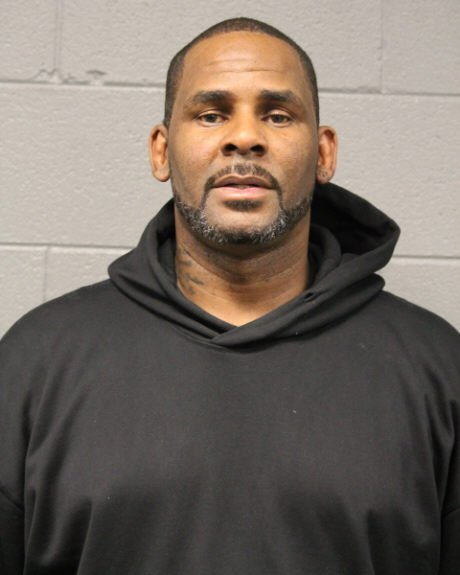 R. Kelly's mugshot during his February 2019 arrest. for 10 counts of aggravated criminal assault.   Photo: Getty Images