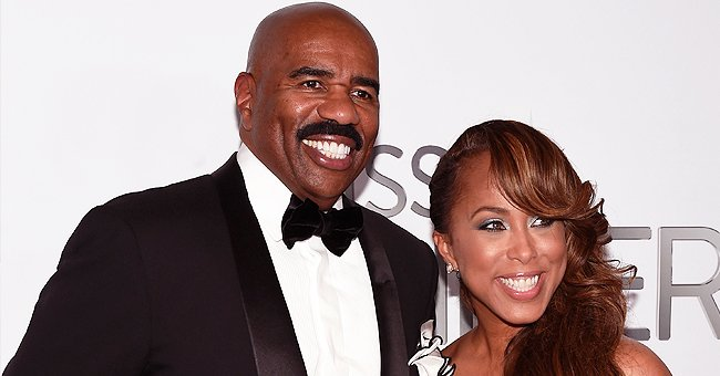 Marjorie Harvey Shows off Her Figure in a Snow-White Swimsuit as She Poses with Husband Steve