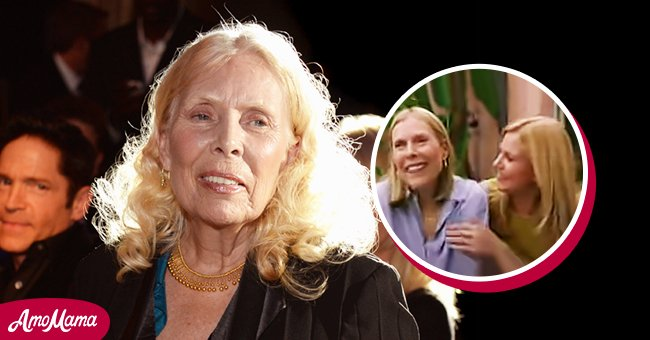 A picture of singer Joni Mitchell and her daughter | Photo: youtube.com/Scottf929 Getty Images