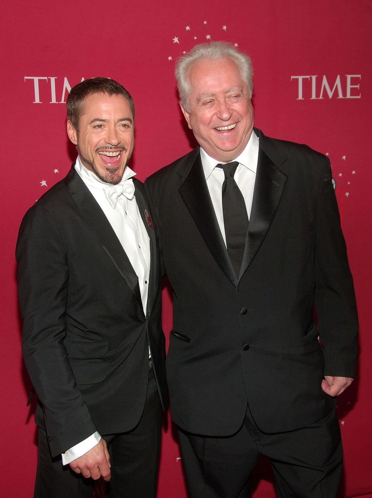 """Robert Downey Jr. and Robert Downey Sr. at Time's """"100 Most Influential People In The World"""" Gala at Jazz at Lincoln Center in New York City on May 8, 2008.   Photo: Getty Images"""