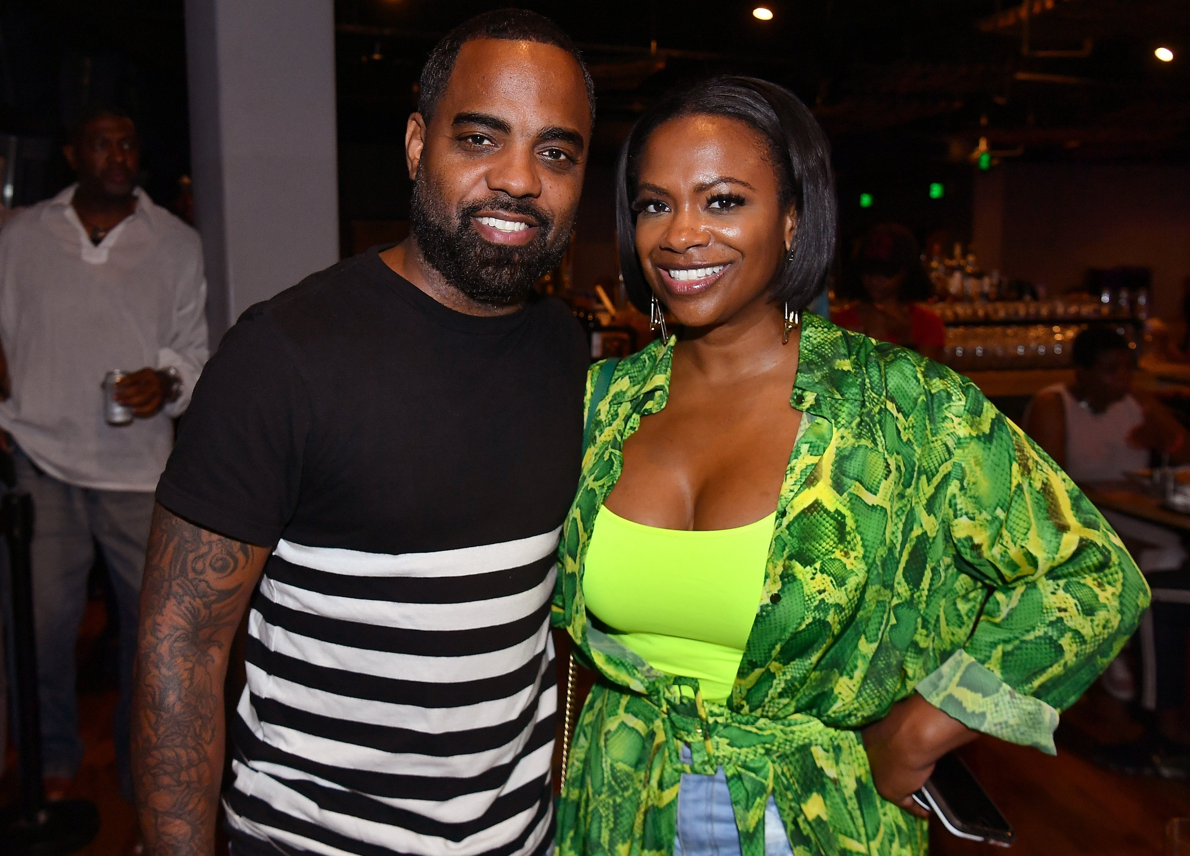 Kandi Burruss and husband Todd Tucker pose in a Majic 107.5 event in Atlanta in September 2019. | Source: Getty Images