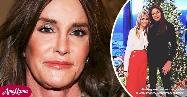 Caitlyn Jenner poses under 11ft tree with her partner for their first Christmas together