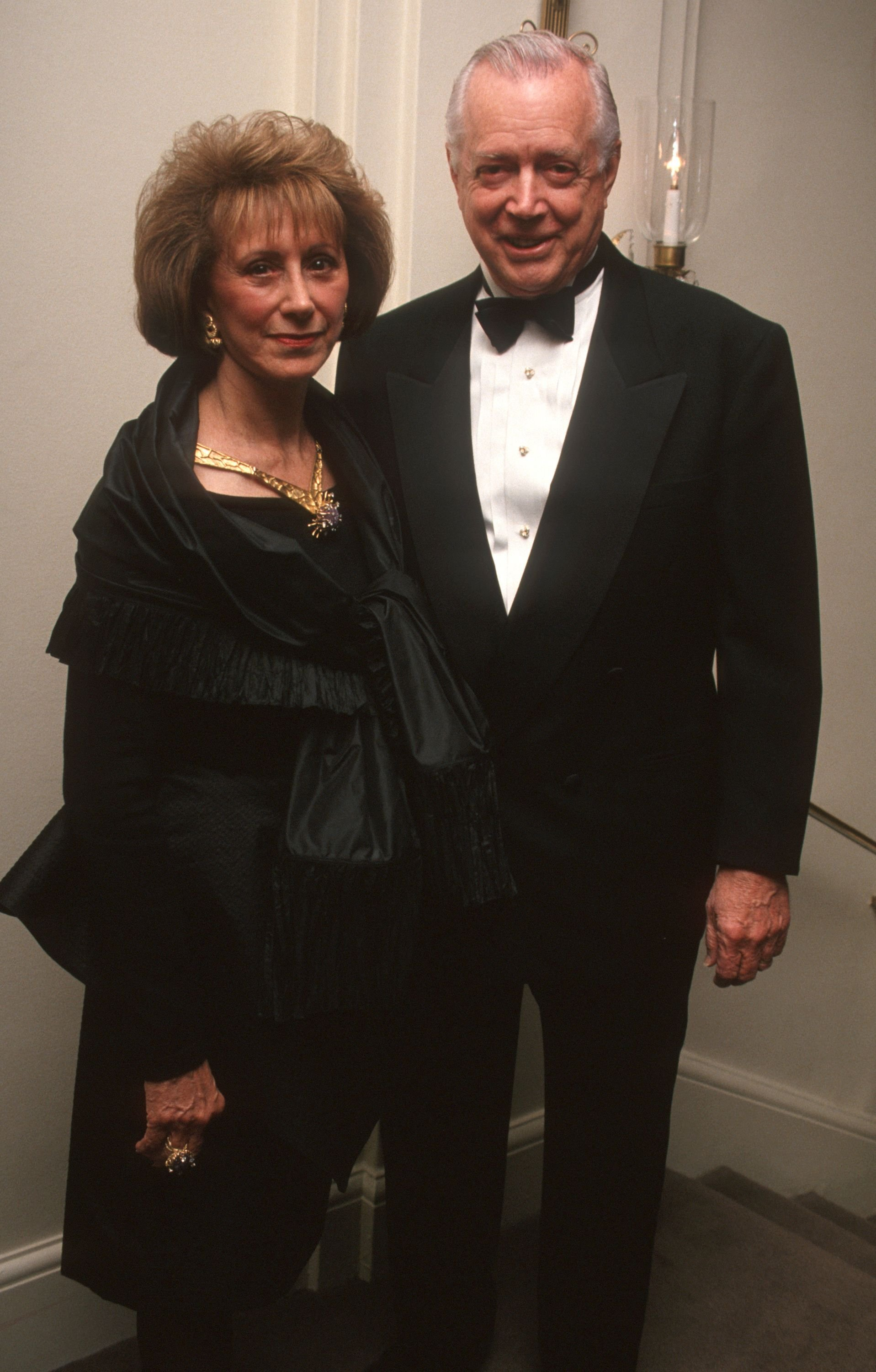 Ruth Downs and Hugh Downs at the CASA Honors James Burke and Daniel Burke benefit in New York   Source: Getty Images