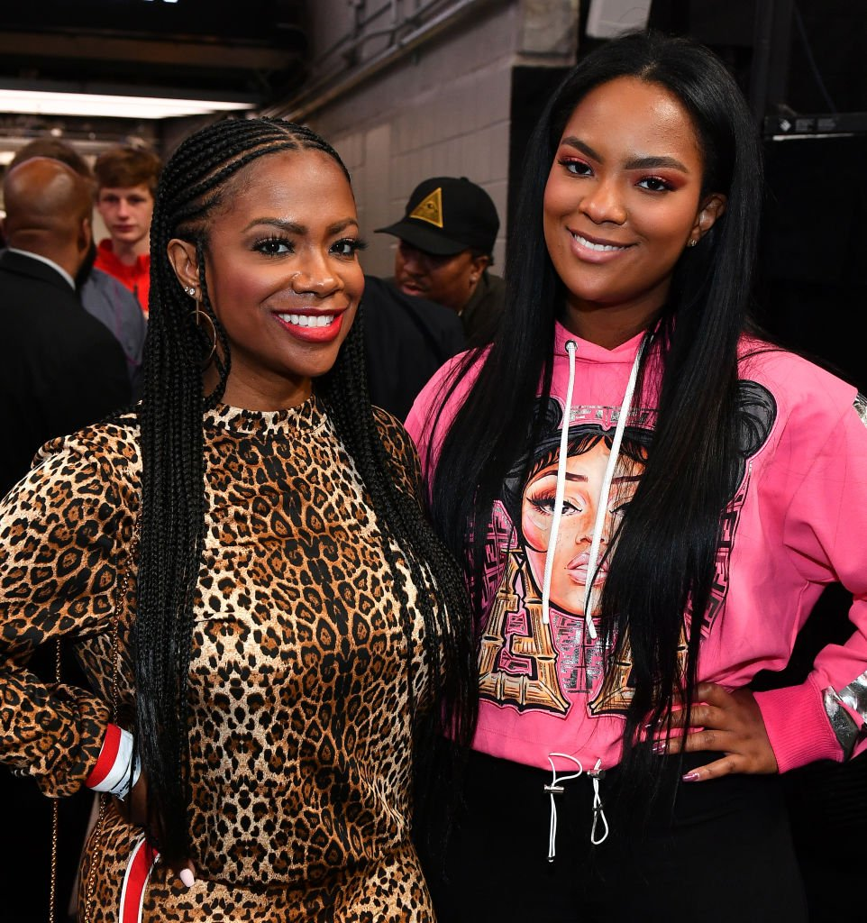 Kandi Burruss and Riley Burruss attend the Los Angeles Lakers vs Atlanta Hawks game at State Farm Arena,2019| Photo: Getty Images