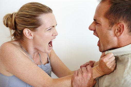 Husband and wife quarreling   Photo: Getty Images