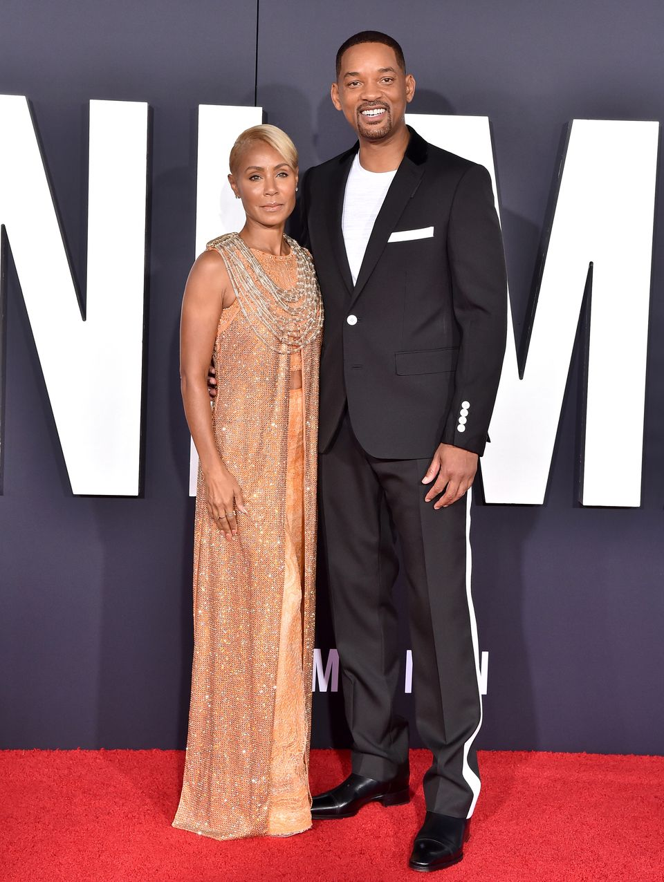 """Jada Pinkett-Smith and Will Smith attend Paramount Pictures' Premiere of """"Gemini Man"""" on October 06, 2019 in Hollywood, California. 