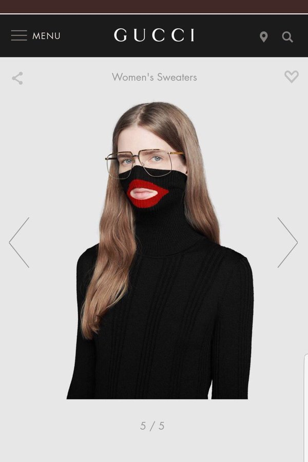 The wool balaclava jumper that caused outrage on social media. | Photo: Gucci