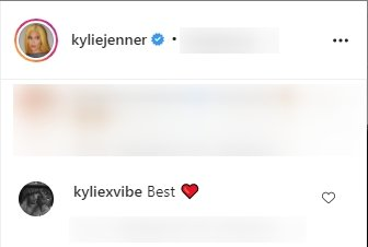 Fan's comments under a picture of Kylie Jenner posted on her Instagram page.   Photo: Instagram/kyliejenner