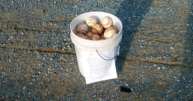 Grandpa Leaves Bucket of Used Baseballs with a Heartfelt Note about Cherishing Family Time