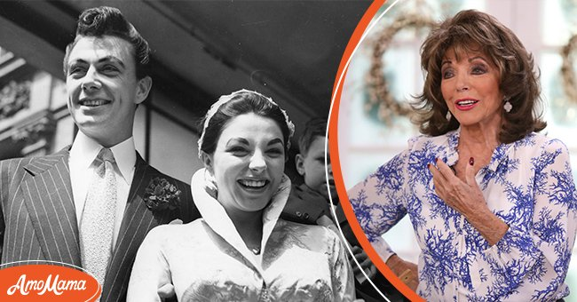 Pictures of Joan Collins with her first husband Maxwell Reed | Photo: Getty Images