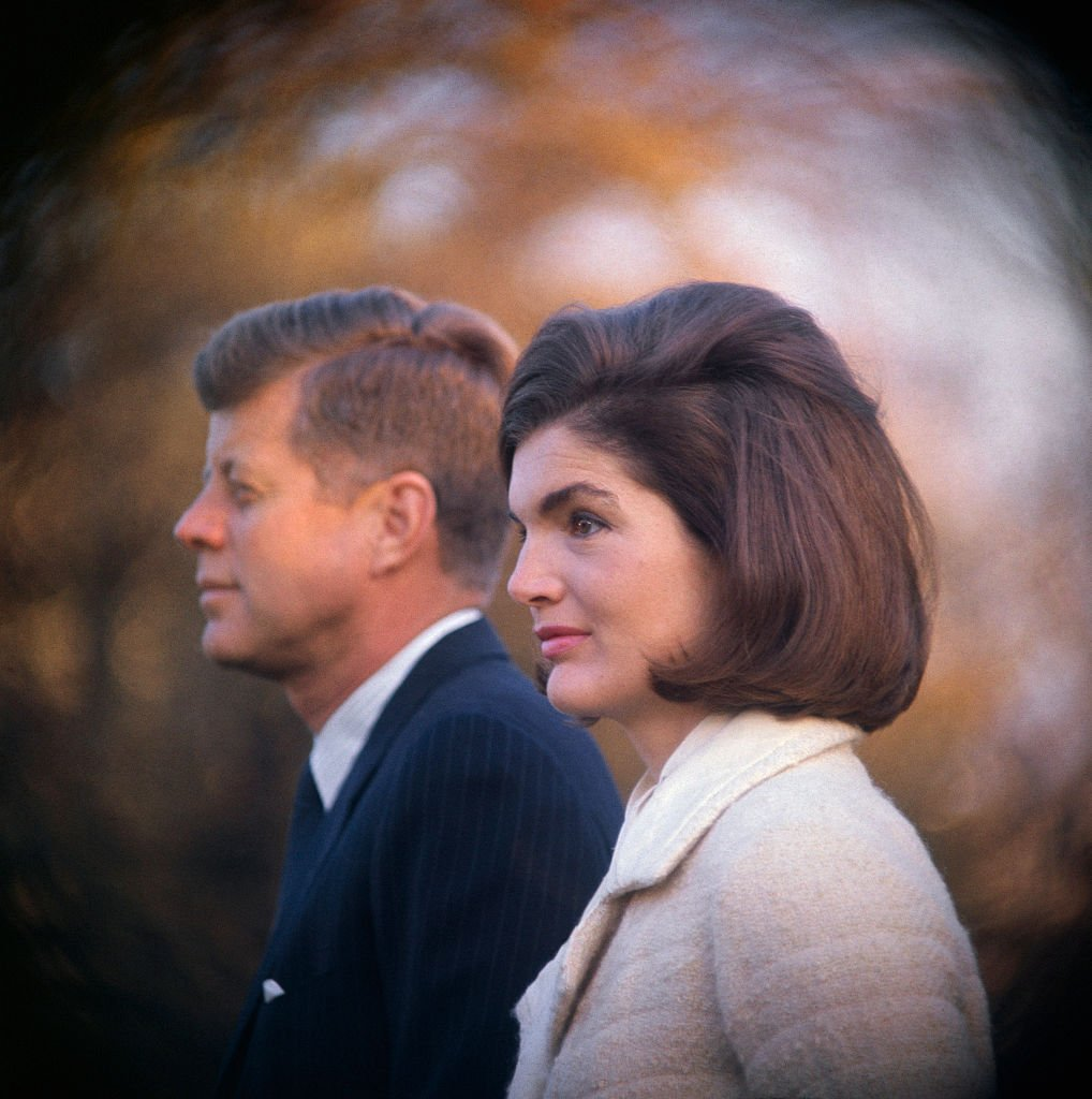 President and Mrs. Kennedy on the White House lawn on November 13, 1963   Source: Getty Images