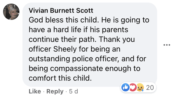 A user's comment on the Facebook post shared by the Fayetteville Police.   Photo: facebook.com/Fayetteville.Police