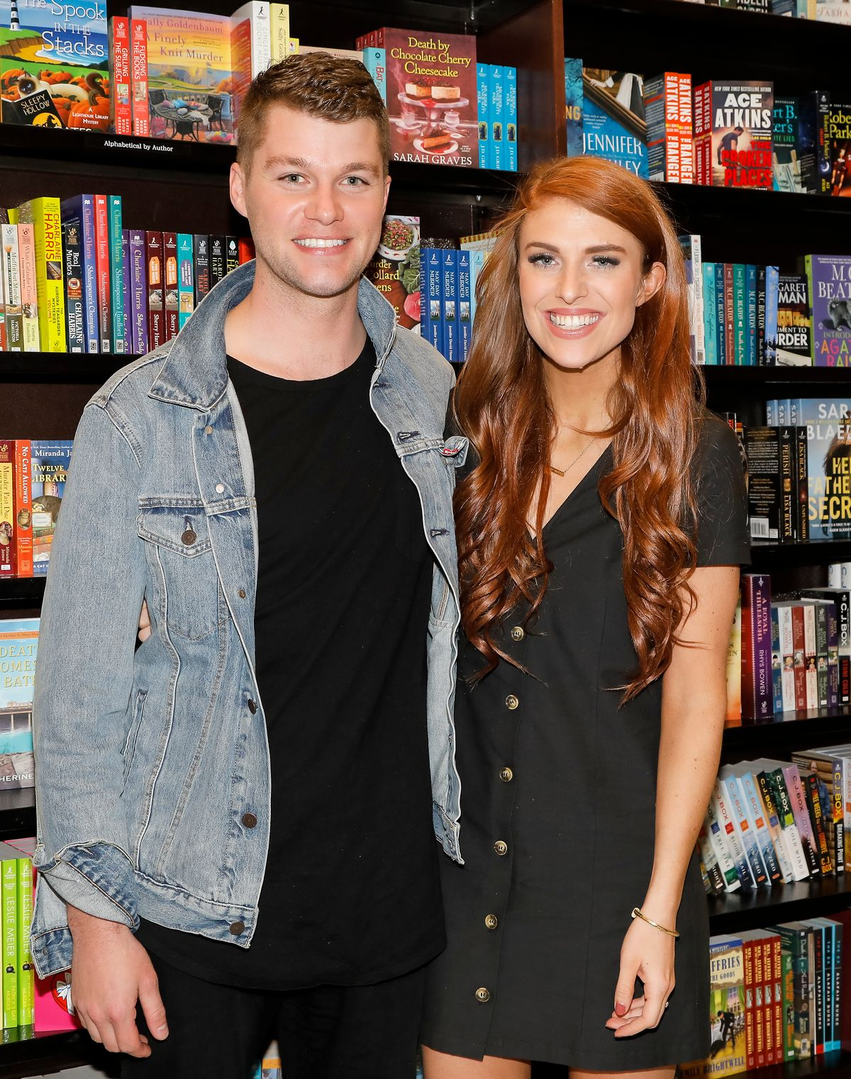 """Jeremyand Audrey Roloff celebrate their new book """"A Love Letter Life""""at Barnes & Nobleon April 10, 2019, in Los Angeles, California 