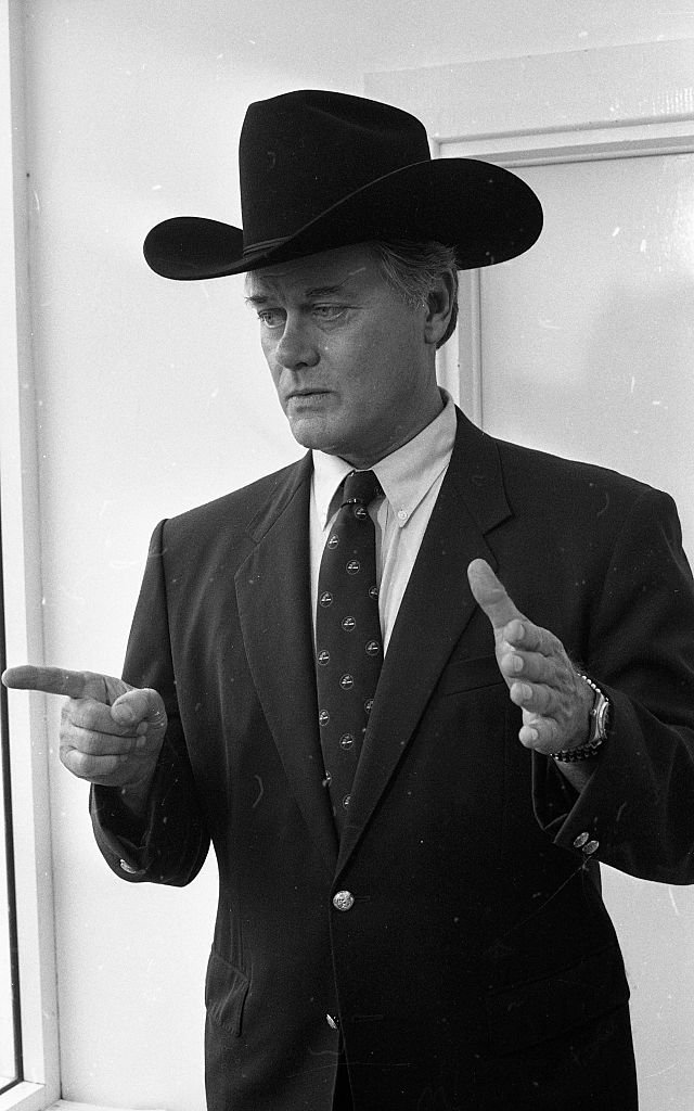 Larry Hagman, who plays JR Ewing in the TV series Dallas, 07/09/1985 | Getty Images