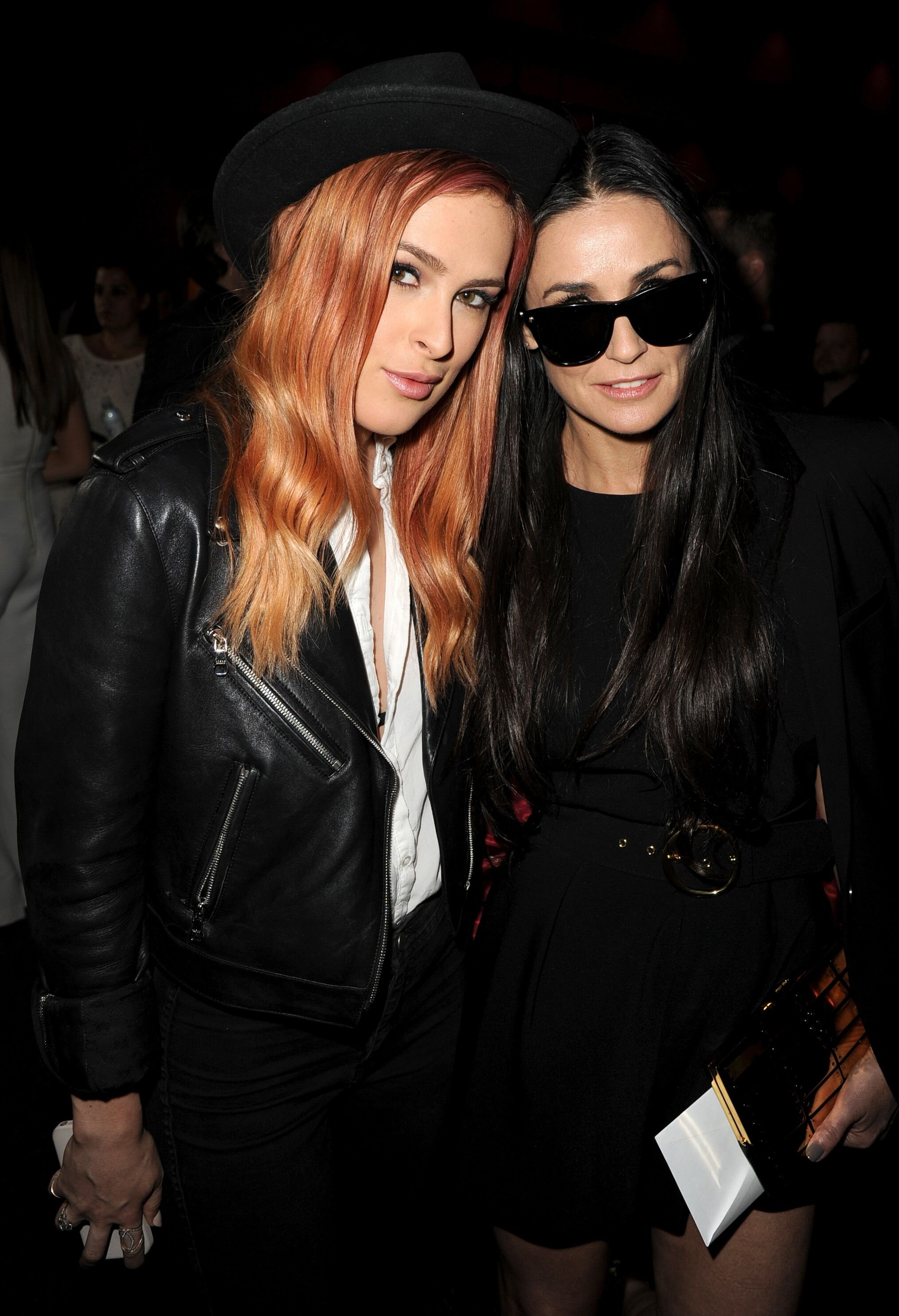 """Rumer Willis and Demi Moore at the premiere of """"Palo Alto"""" in Los Angeles in 2014"""