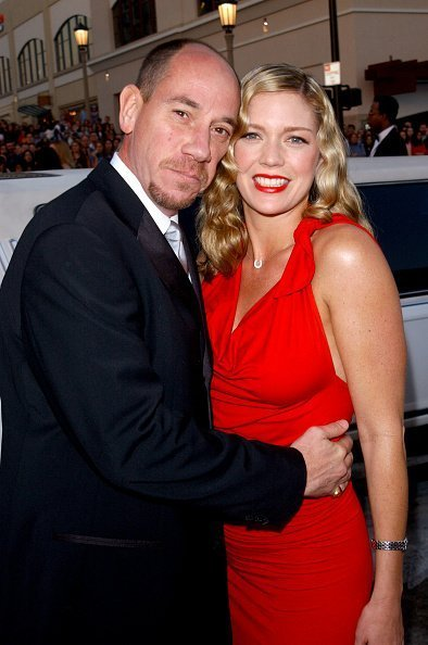 Miguel Ferrer and Leilani Sarelle at the Pasadena Civic Center January 13, 2002 in Pasadena, CA. | Photo: Getty Images