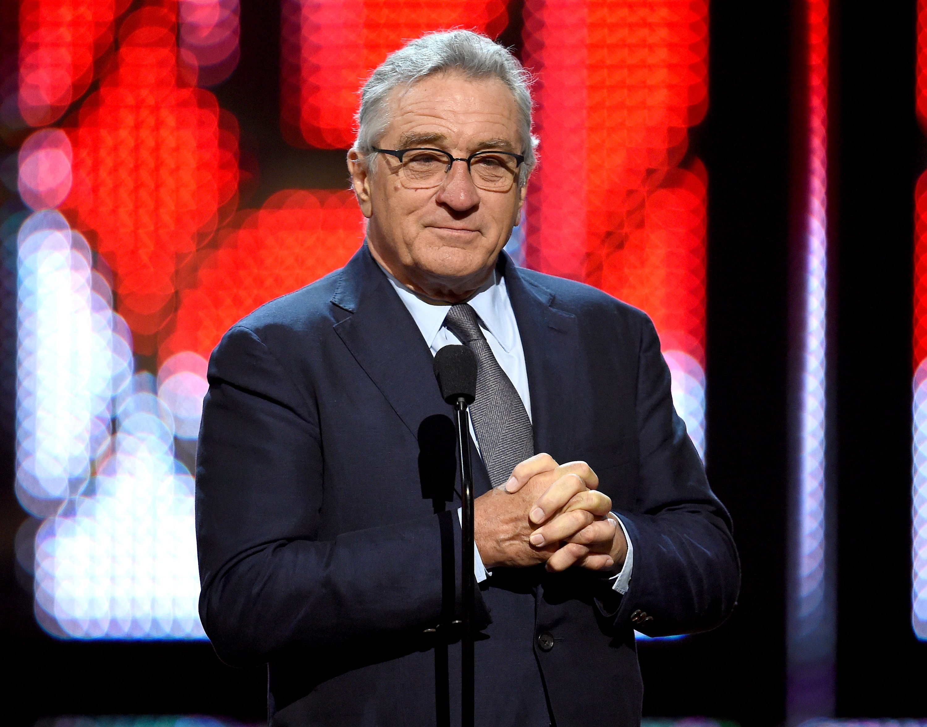 Actor Robert De Niro speaks onstage during Spike TV's 10th Annual Guys Choice Awards at Sony Pictures Studios on June 4, 2016, in Culver City, California. | Source: Getty Images.