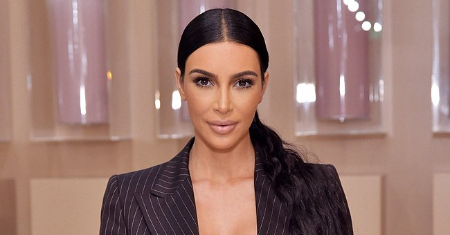 Kim Kardashian pictured at the KKW Beauty Pop-Up at South Coast Plaza, 2018, California. | Photo: Getty Images