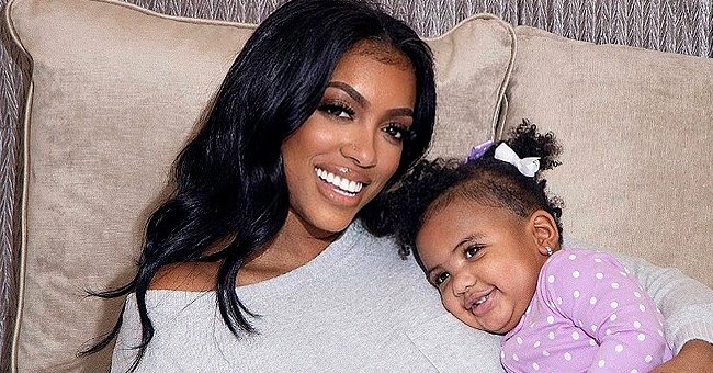 See How Porsha Williams Homeschools Her Daughter Dressed in an Adorable Yellow & White Outfit