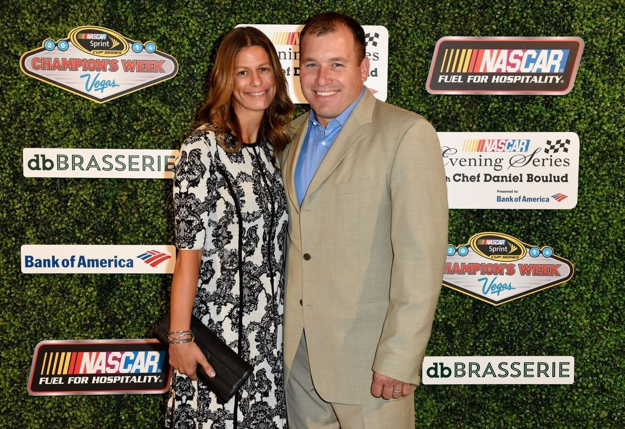 Ryan Newman poses with his wife Krissie during the NASCAR Evening Series with Chef Daniel Boulud presented by Bank of America at db Brasserie at The Venetian Las Vegas on December 3, 2014 in Las Vegas, Nevada | Photo: Getty Images