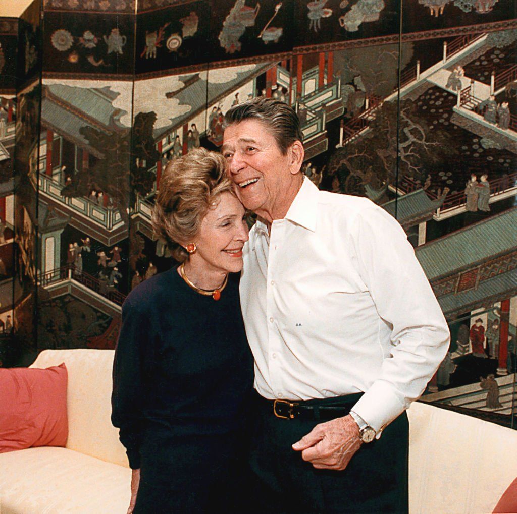 President Ronald Reagan and First Lady Nancy Reagan celebrate their 36th wedding anniversary March 4, 1988 at a surprise party at the White House. Former President Reagan turned 90 years-old February 6, 2001 at his home in California. | Source: Getty Images