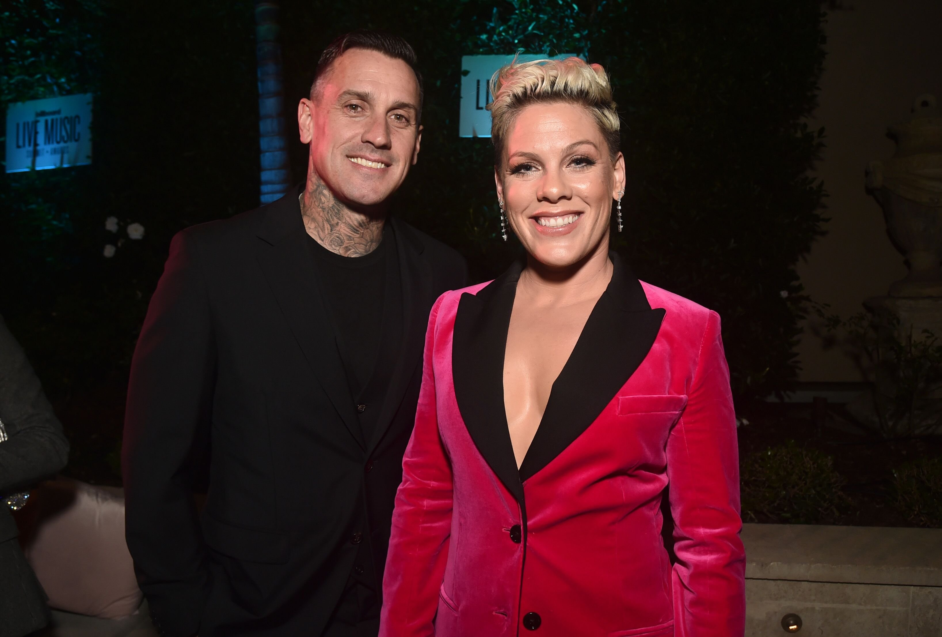 Carey Hart and Pink at Billboard's LIve Music Summit and Awards Ceremony. | Source: Getty Images