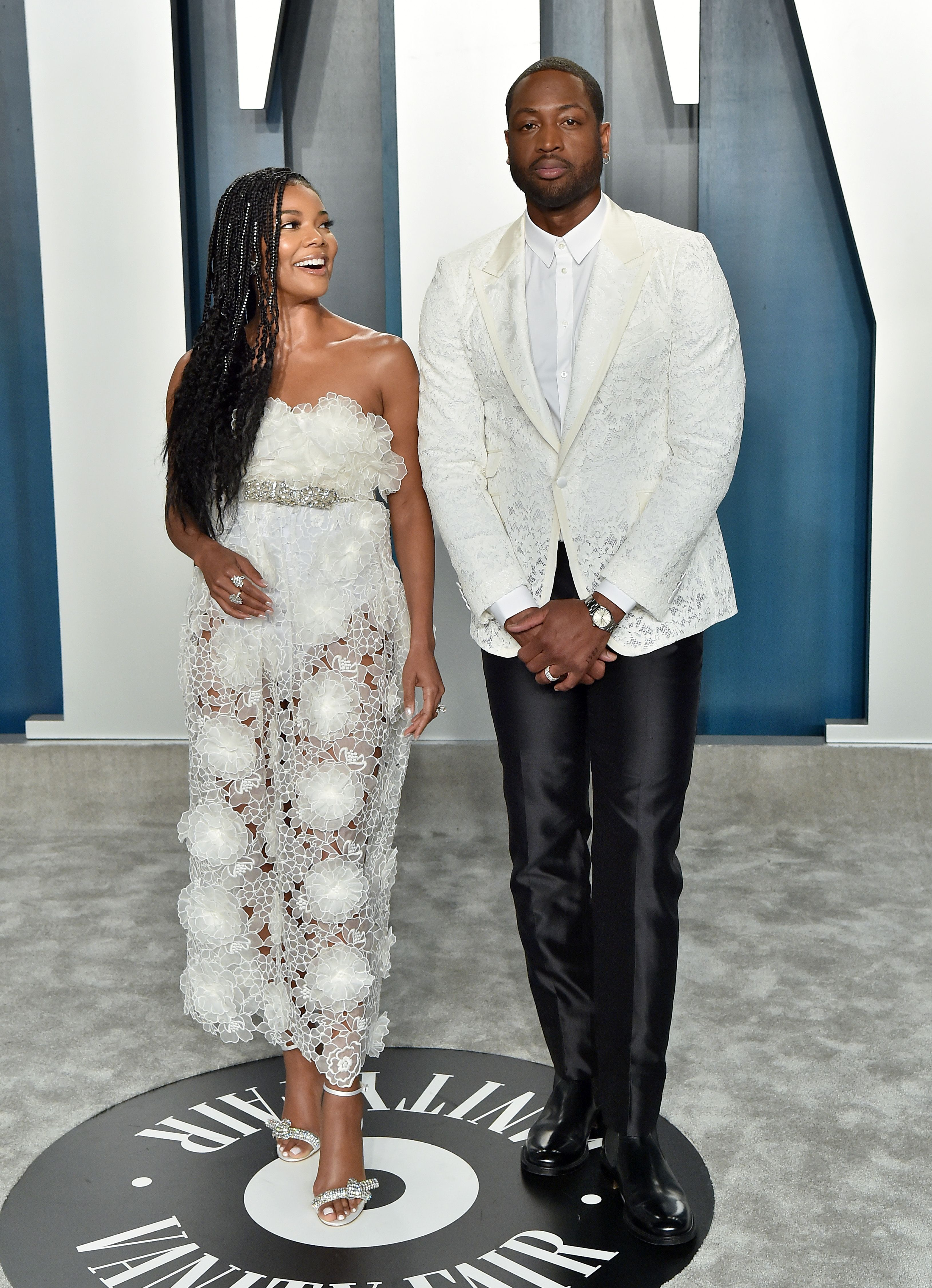 Gabrielle Union and Dwyane Wade during the 2020 Vanity Fair Oscar Party hosted by Radhika Jones at Wallis Annenberg Center for the Performing Arts on February 09, 2020 in Beverly Hills, California.   Source: Getty Images