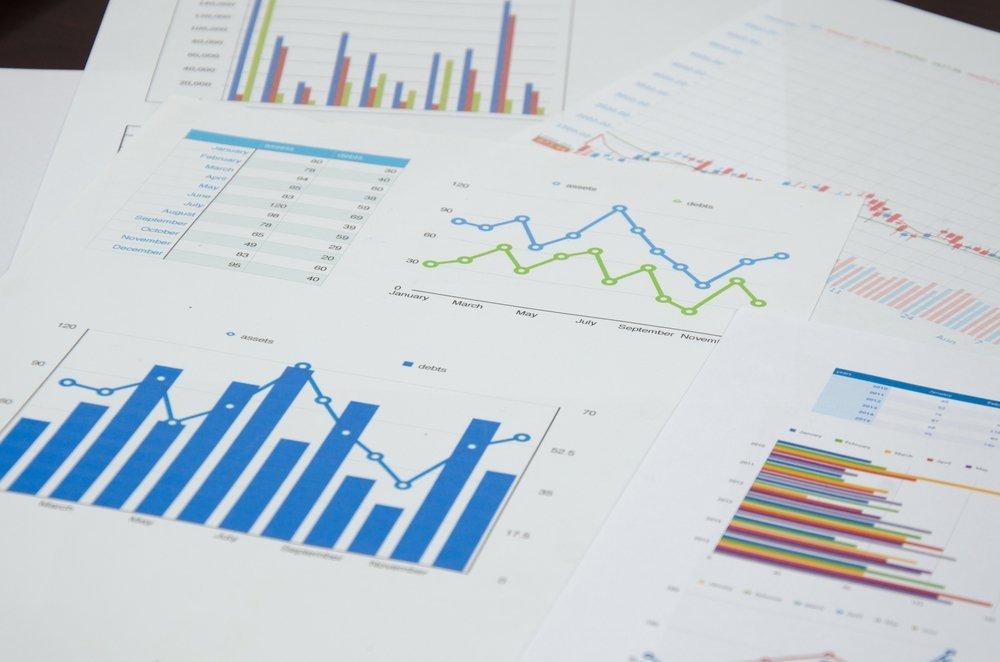 Tableau financier et graphique. | Shutterstock