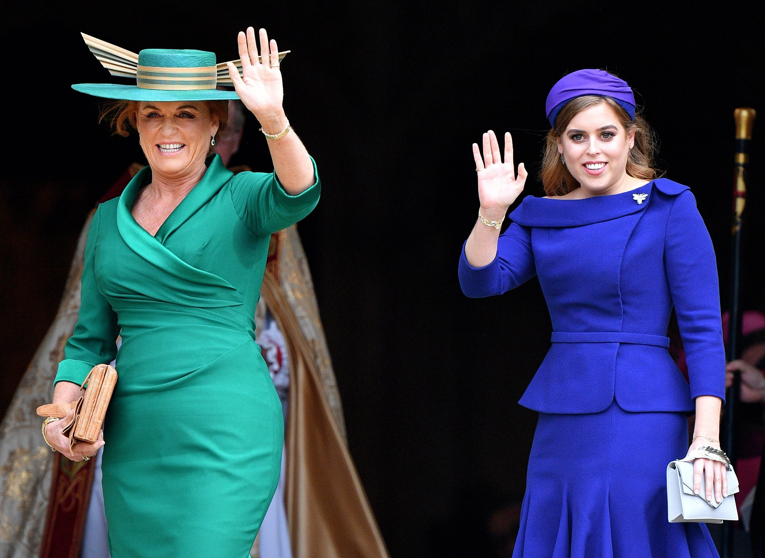 Sarah Ferguson and Princess Beatrice attend Princess Eugenie's wedding at St. George's Chapel in Windsor Castle in October 2018 | Photo: Getty Images