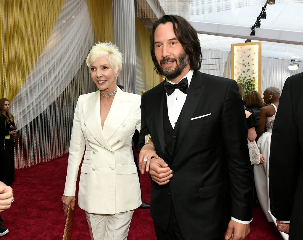 Keanu Reeves and his mother, Patricia Taylor at the red carpet of the 92nd Academy Awards on February 9, 2020. | Photo: Getty Images