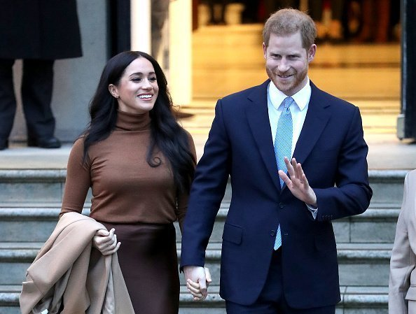Prince Harry, Duke of Sussex and Meghan, Duchess of Sussex depart Canada House in London, England | Photo: Getty Image