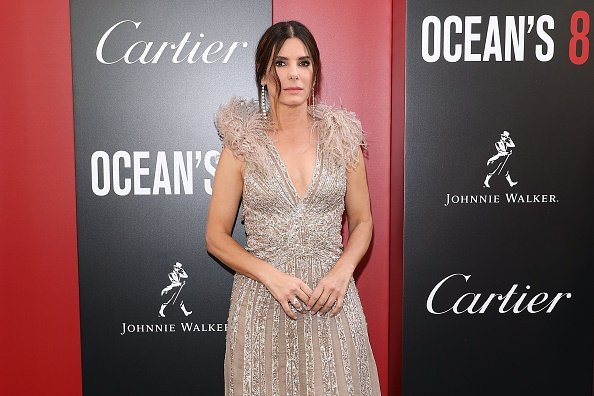 "Sandra Bullock attends the world premiere of ""Ocean's 8"" at Alice Tully Hall at Lincoln Center on June 5, 2018 in New York City 