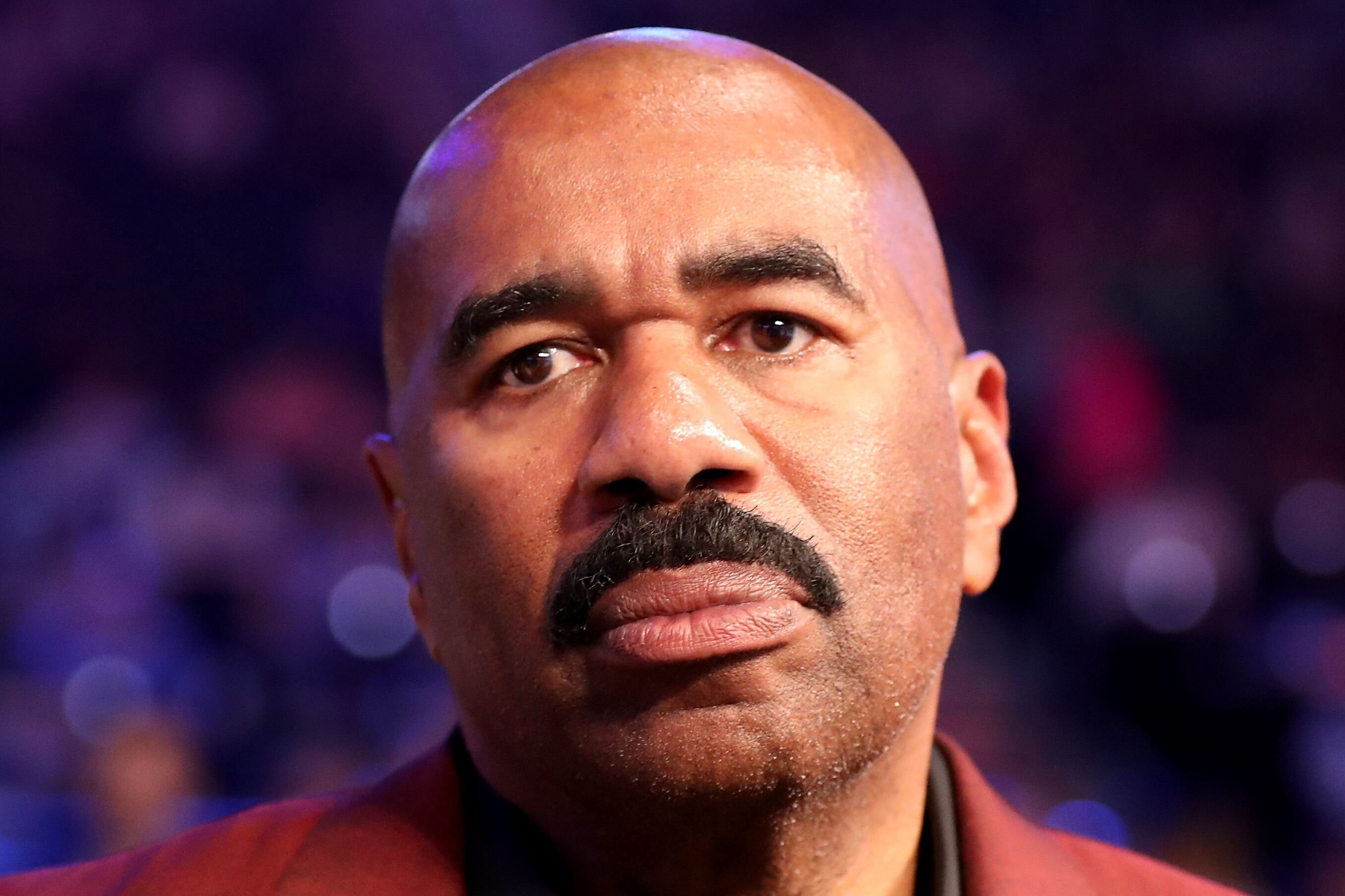 Steve Harvey at the super welterweight boxing match between Floyd Mayweather Jr. and Conor McGregor in Las Vegas in 2017   Source: Getty Images