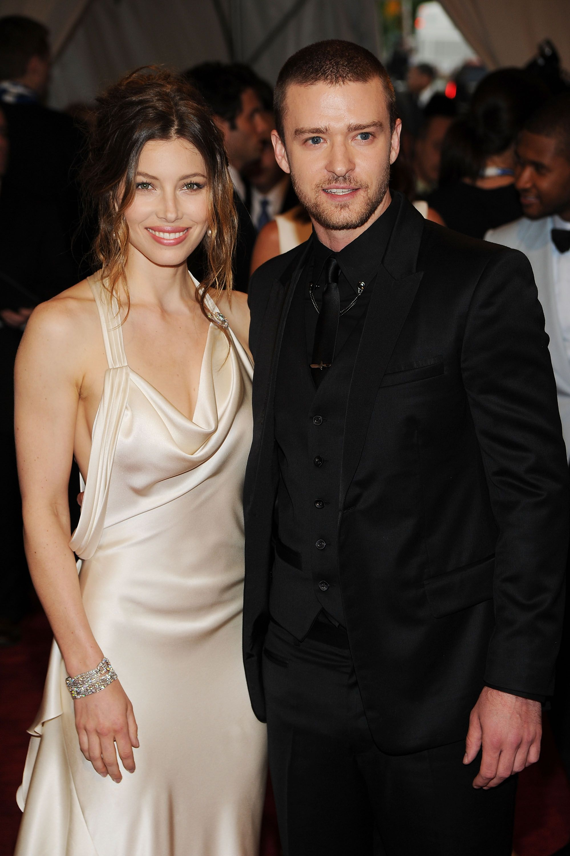 Justin Timberlake and Jessica Biel at the MET Gala, New York, 2010   Photo: Getty Images