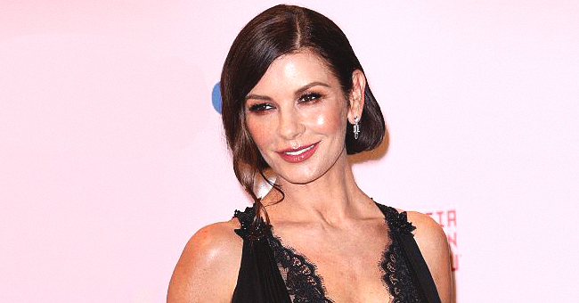 Catherine Zeta-Jones Looks Elegant for Dinner with Michael Douglas in Portofino