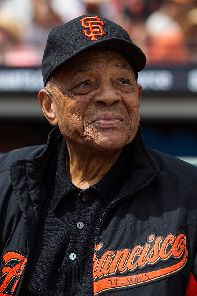 Willie Mays watching the game between the San Francisco Giants and Los Angeles Dodgers at AT&T Park on April 7, 2016 in San Francisco, California. | Photo: Getty Images.
