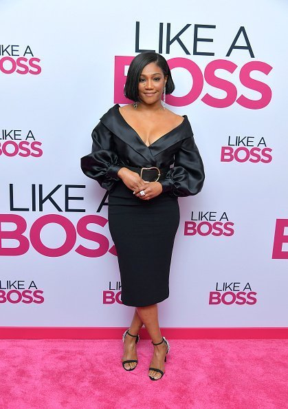 "Tiffany Haddish attends the Paramount Pictures' ""Like A Boss"" World Premiere at the SVA Theater on January 7, 2020 in New York.
