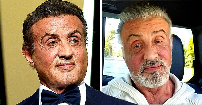 Sylvester Stallone of 'Rambo' Fame Encourages Fans to Keep Punching as He Debuts His Natural Gray Hair