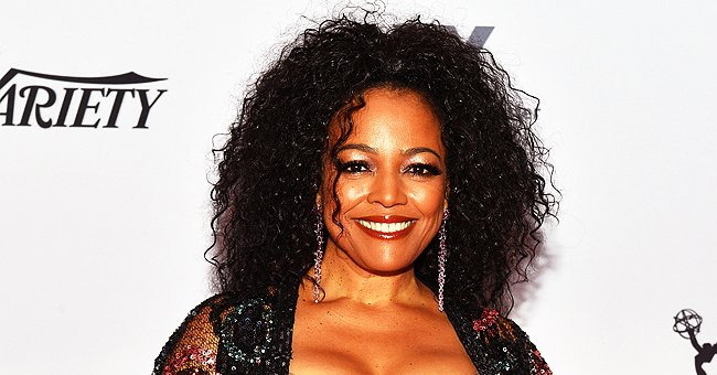 Kim Fields from 'Living Single' Exudes Glamour in Low-Cut Black Sequin Dress in a Stunning Photo