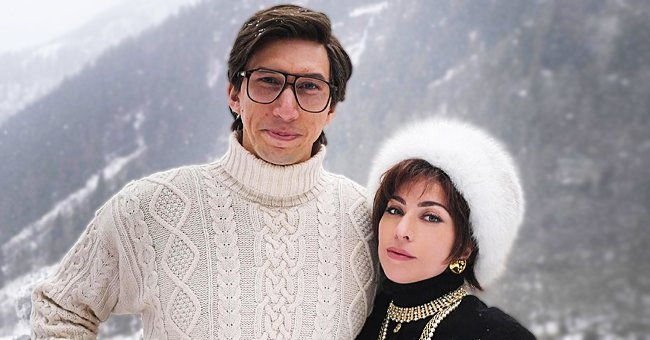 Lady Gaga & Adam Driver Are Barely Recognizable in behind-the-Scenes Snap from 'House of Gucci'