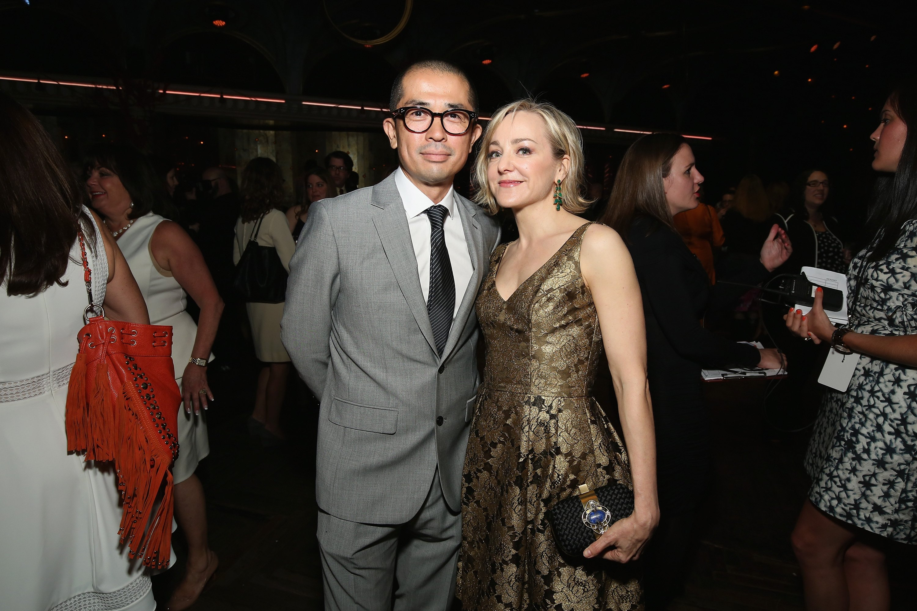 Geneva Carr and Yuji Yamazaki attend the 2015 Tony Honors Cocktail Party at Diamond Horseshoe at the Paramount Hotel on June 1, 2015 in New York City. | Source: Getty Images.