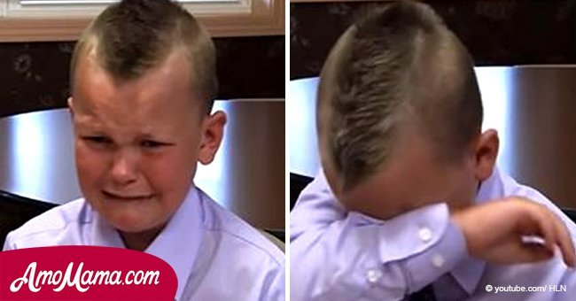 5-year-old boy recalls the story of how he saved his father's life. Suddenly, he begins to cry