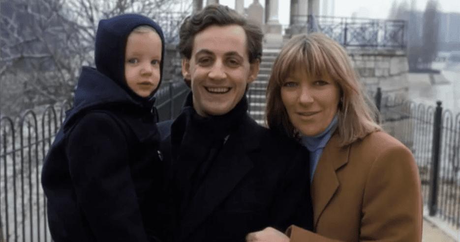 Marie-Dominique Culioli, Nicolas Sarkozy et leur premier enfant. | Capture d'écran GALA VIDEO