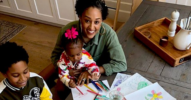 See How Tia Mowry Encourages Her Kids Cree and Cairo to Get Creative in a New Photo She Shared