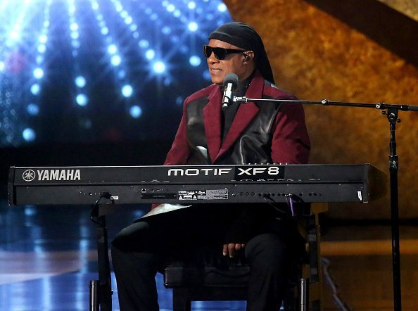 """Stevie Wonder performs onstage at """"Q 85: A Musical Celebration for Quincy Jones"""" presented by BET Networks at Microsoft Theater on September 25, 2018 