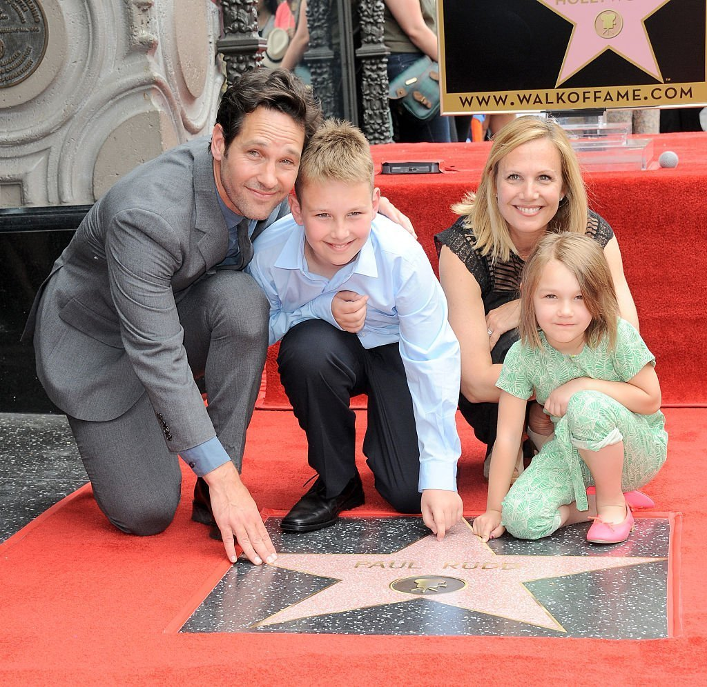 Paul Rudd, Julie Yaeger, Jack, and Darby Rudd on July 1, 2015 in Hollywood, California | Source: Getty Images