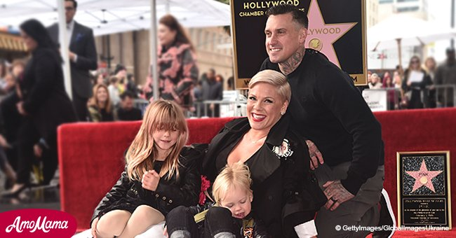 Pink brings her family to Hollywood Walk Of Fame to receive her star